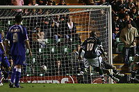 Photo: Lee Earle.<br /> Plymouth Argyle v Cardiff City. Coca Cola Championship. 12/09/2006. Argyle's Barry Hayles (R) scores their second.