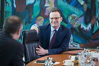 31 OCT 2018, BERLIN/GERMANY:<br /> Jens Spahn, CDU, Bundesgesundheitsminister,  vor Beginn der Kabinettsitzung, Bundeskanzleramt<br /> IMAGE: 20181031-01-010<br /> KEYWORDS: Kabinett, Sitzung