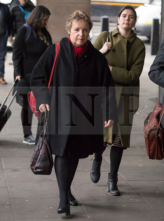 © Licensed to London News Pictures. 20/02/2018. London, UK. Chair of Oxfam trustees CAROLINE THOMSON, arrives at Portcullis House in London where Oxfam bosses are due to give evidence to an International Development Select Committee. The group will respond to allegations that prostitutes were hired by Oxfam workers during a humanitarian mission in Haiti. Photo credit: Ben Cawthra/LNP