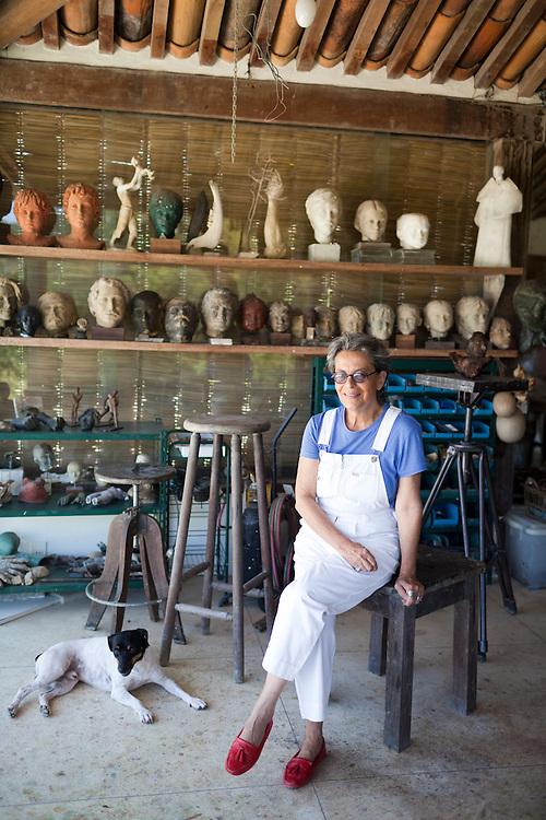 Artist Christina Motta in her studio.