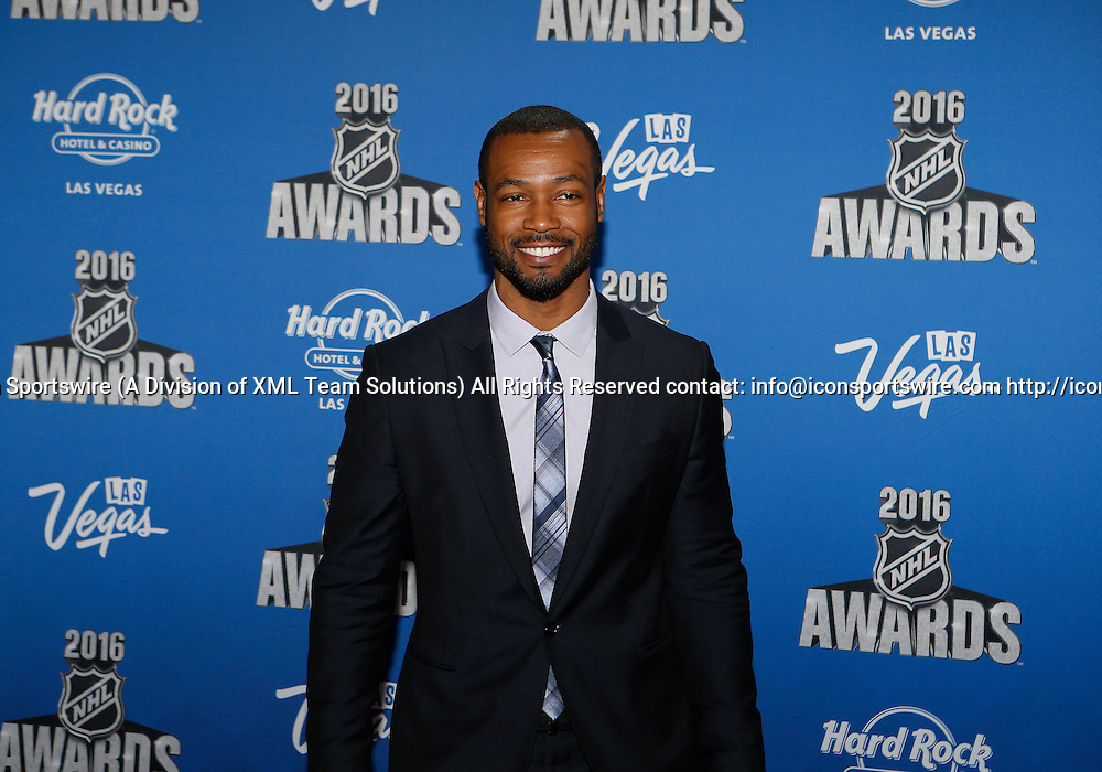2016 June 22: Actor Isaiah Mustafa poses for a photograph on the red carpet during the 2016 NHL Awards at the Hard Rock Hotel and Casino in Las Vegas, Nevada. (Photo by Marc Sanchez/Icon Sportswire)