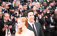 Jessica Chastain, David Schwimmer  at the gala screening Madagascar 3: Europe's Most Wanted at the 65th Cannes Film Festival. On Friday 18th May 2012 in Cannes Film Festival, France.