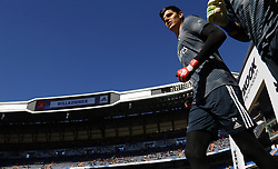 March 16, 2019 - Madrid, Madrid, Spain - Real Madrid CF's Tibaut Courtois seen warming up before the Spanish La Liga match round 28 between Real Madrid and RC Celta Vigo at the Santiago Bernabeu Stadium in Madrid. (Credit Image: © Manu Reino/SOPA Images via ZUMA Wire)