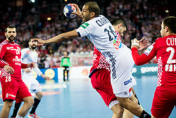 Nicolas Claire of France during handball match between National teams of Croatia and France on Day 7 in Main Round of Men's EHF EURO 2018, on January 24, 2018 in Arena Zagreb, Zagreb, Croatia.  Photo by Vid Ponikvar / Sportida