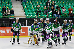Players having practice and greets fans at Press conference after Red Bull Salzburg left Ljubljana and game four of quarter final was not played, HDD Tilia Olimpija won 5:0 without a match, on March 13, 2011 at Hala Tivoli, Ljubljana, Slovenia. (Photo By Matic Klansek Velej / Sportida.com)