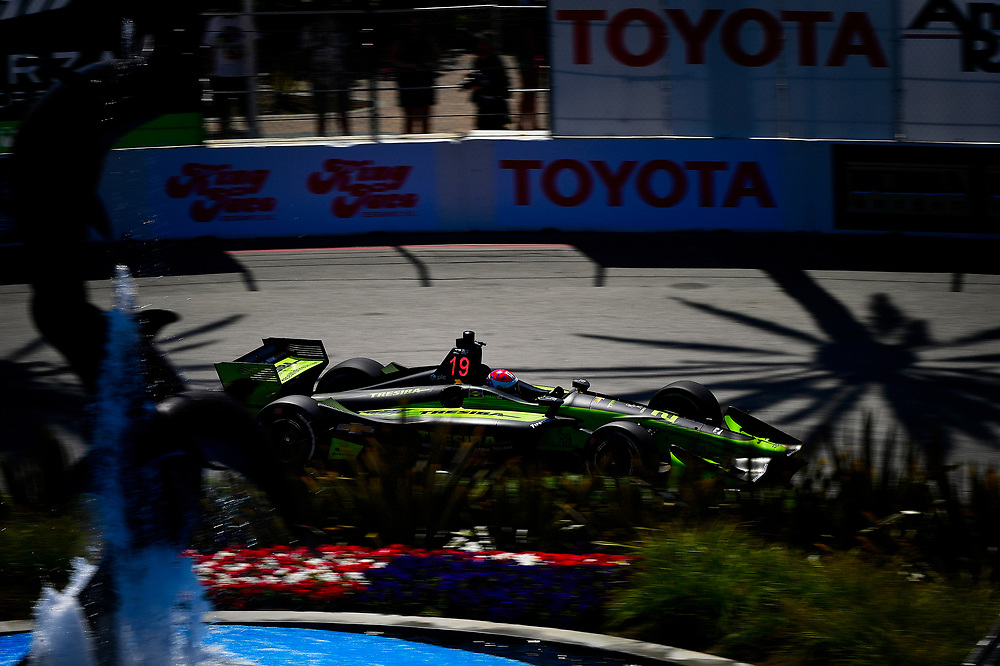 Charlie Kimball, Carlin Chevrolet<br /> Saturday 14 April 2018<br /> Toyota Grand Prix of Long Beach<br /> Verizon IndyCar Series<br /> Streets of Long Beach, California USA<br /> World Copyright: Scott R LePage<br /> LAT Images