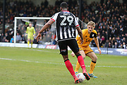 Grimsby Town forward Jamille Matt (29) attacking  during the EFL Sky Bet League 2 match between Grimsby Town FC and Port Vale at Blundell Park, Grimsby, United Kingdom on 10 March 2018. Picture by Mick Atkins.