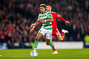 Scott Sinclair (#11) of Celtic prepares to shoot during the Betfred Cup Final between Celtic and Aberdeen at Celtic Park, Glasgow, Scotland on 2 December 2018.