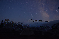 Stars over Mount Challenger, North cascades National Park