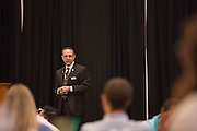 Patrick Donadio gives his presentation, Communicating with IMPACT, to attendees of the Leadership Development Program event in Baker Ballroom on August 26, 2016. Photo by Emily Matthews