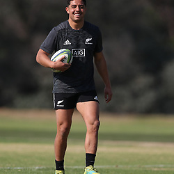 PRETORIA, SOUTH AFRICA - OCTOBER 05: Anton Lienert-Brown during the Rugby Championship New Zealand All Blacks captain's run at St David's Marist Inanda 36 Rivonia Rd, Sandown, Sandton,on October 5, 2018 in Pretoria, South Africa. (Photo by Steve Haag/Getty Images)