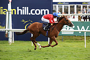 DAVYDENKO (5) ridden by Ryan Moore and trained by Sir Michael Stoute winning The Magners Rose Handicap Stakes over 1m 2f (£25,000) during the second day of the St Leger Festival at Doncaster Racecourse, Doncaster, United Kingdom on 12 September 2019.