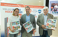 UTRECHT - Maartje Paumen , Floris Jan Bovelander en Paul Litjens Presentatie KNHB boek 115 jaar Nederland Hockeyland. FOTO KOEN SUYK