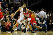 Apr 27, 2010; Cleveland, OH, USA; Cleveland Cavaliers guard Delonte West (13) defends against Chicago Bulls guard Ronald Murray (6) during the second period in game five in the first round of the 2010 NBA playoffs at Quicken Loans Arena.  Mandatory Credit: Jason Miller-US PRESSWIRE