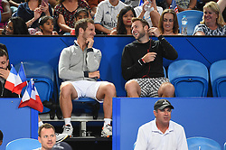 Richard Gasquet (FRA) and Jack Sock (USA) watching women tennis at the Hopman Cup at the Perth Arena, in Perth, Australia, on january the 7th, 2017. Photo by Corinne Dubreuil/ABACAPRESS.COM