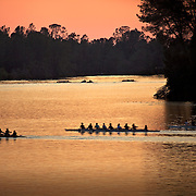 Crew on Lake Natoma, Folsom, CA