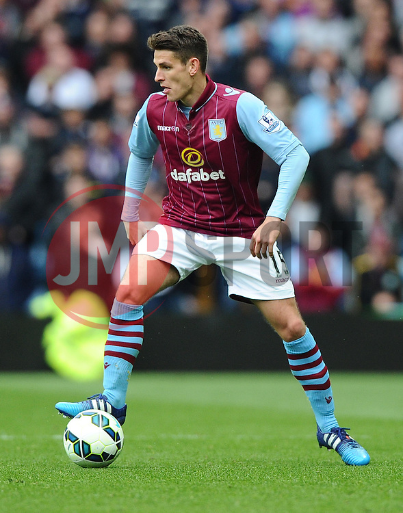 Aston Villa's Ashley Westwood  - Photo mandatory by-line: Joe Meredith/JMP - Mobile: 07966 386802 - 09/05/2015 - SPORT - Football - Birmingham - Villa Park - Aston Villa v West Ham United - Barclays Premier League