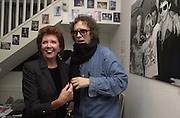 Cilla Black and Mick Rock. Mick Rock exhibition opening at the Proud Gallery and after party at the Mayfair Club. London. 4 April 2001. © Copyright Photograph by Dafydd Jones 66 Stockwell Park Rd. London SW9 0DA Tel 020 7733 0108 www.dafjones.com