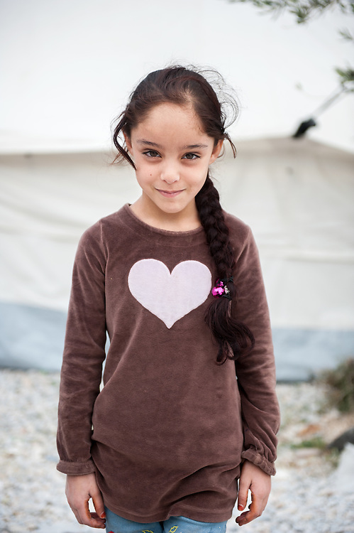 Elyamama 7 years old from Iraq in Kara Tepe camp in Lesvos, Greece