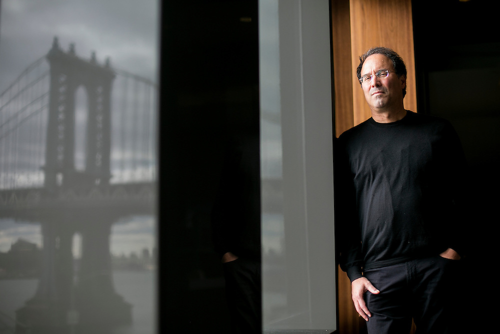 NEW YORK, NY - OCTOBER 28, 2016: Extell CEO Gary Barnett poses for a portrait in the showroom of One Manhattan Square in New York, New York. CREDIT: Sam Hodgson for The New York Times.