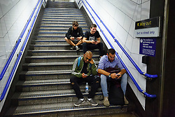 © Licensed to London News Pictures. 20/08/2016. London, UK. Tube passengers wait for the night tube service of Central line in London for the first time on 20 August 2016. Transport for London started a 24-hour Tube service on Victoria and Central lines as demand has soared over recent years, with passenger numbers on Friday and Saturday nights up by around 70 per cent since 2000. The plan was announced in November 2013 and intended to begin in September 2015, but strikes over pay delayed the start by nearly another year. Photo credit: Tolga Akmen/LNP