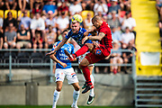 OSTERSUND, SWEDEN - JULY 21: Saman Ghoddos of Ostersunds FK and Robin Nilsson of Trelleborgs FF during the Allsvenskan match between Ostersunds FK and Trelleborgs FF on July 21 at Jamtkraft Arena, 2018 in Gothenburg, Sweden. Photo by Johan Axelsson/Ombrello ***BETALBILD***