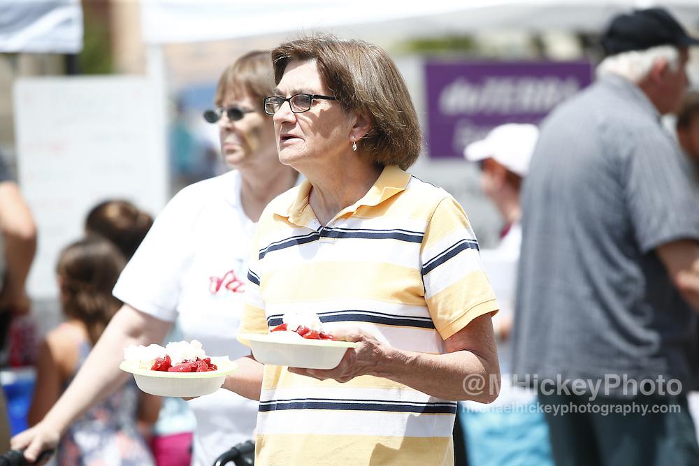 Strawberry Festival activities in downtown Kokomo, Indiana.