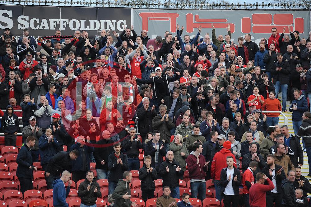 Bristol City fans - Photo mandatory by-line: Dougie Allward/JMP - Mobile: 07966 386802 - 15/11/14 - SPORT - Football - Swindon - The County Ground - Swindon Town v Bristol City - Sky Bet League One