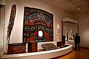 Seattle Art Museum,(SAM) Seattle, Washington,  First American Raven screen, paint, spruce, attributed to Naakustaa 1810