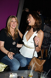 Left to right, MISS GEORGINA COHEN and MISS GABRIELA RELJANOVIC at a party hosted by Panerai and the Baglioni Hotel, 60 Hyde Park Gate, London on 6th December 2004.<br />