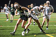 3/7/16 – Medford/Somerville, MA – Tufts midfielder Caroline Nowak (LA '18) fights to regain possession of the ball in the game against Castleton on Monday, March 7, 2016. (Evan Sayles / The Tufts Daily)