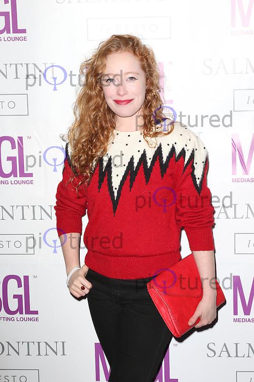 Victoria Yeates, MediaSkin Gifting Lounge, Salmontini Le Resto, London UK, 19 January 2015, Photo by Richard Goldschmidt