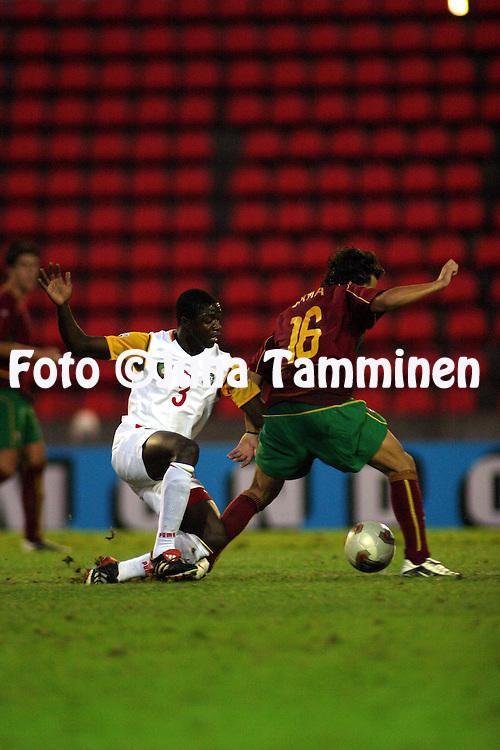 20.08.2003, Ratina Stadium, Tampere, Finland.FIFA U-17 World Championship - Finland 2003.Match 22: Group C - Portugal v Cameroon.Henri Namalui - Cameroon.©Juha Tamminen