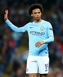 Leroy Sane of Manchester City gestures - Mandatory by-line: Matt McNulty/JMP - 26/09/2017 - FOOTBALL - Etihad Stadium - Manchester, England - Manchester City v Shakhtar Donetsk - UEFA Champions League Group stage - Group F
