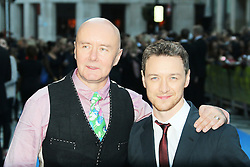 © Licensed to London News Pictures. 30/09/2013, UK. Irvine Welsh; James McAvoy, Filth - London film premiere, Odeon West End cinema Leicester Square, London UK, 30 September 2013. Photo credit : Richard Goldschmidt/Piqtured/LNP