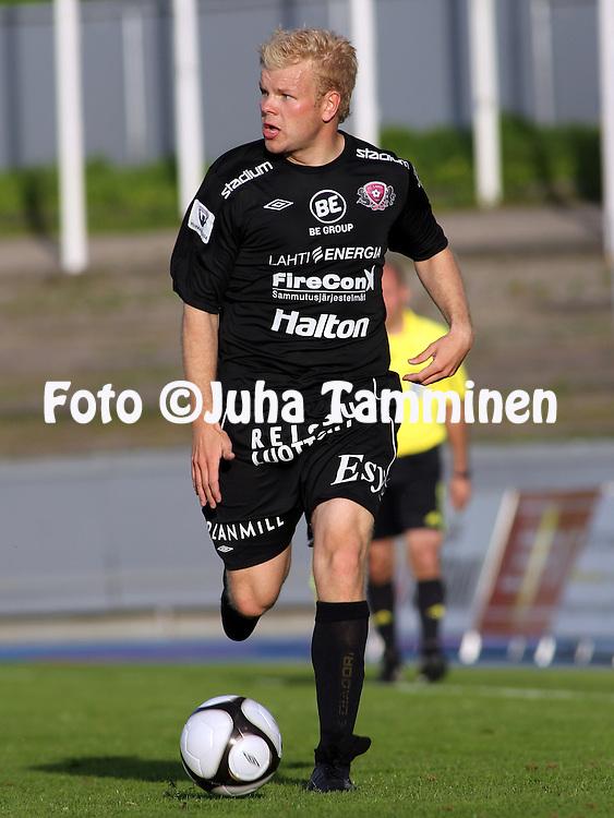 01.06.2010, Stadion, Lahti..Veikkausliiga 2010, FC Lahti - JJK Jyv?skyl?..Kalle Eerola - FC Lahti.©Juha Tamminen.