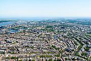 Nederland, Noord-Holland, Amsterdam, 29-06-2018; Overzicht westelijke grachtengordel, gezien naar Dam en Amstel.<br /> City centre, canals.<br /> luchtfoto (toeslag op standard tarieven);<br /> aerial photo (additional fee required);<br /> copyright foto/photo Siebe Swart