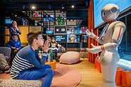 Robot Ginger geeft les
