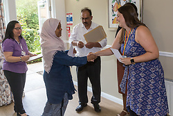 Care UK's Franklin House care home in West Drayton, London, has been awarded a Two Years Pressure Prevention Award from North West London NHS Foundation, in collaboration with Hillingdon TVN Team and Hillingdon CCG. Care Assistant Yasmin Abdulmanan  receives her award for 5 years' service. London, July 11 2019.