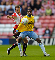Photo. Glyn Thomas, Digitalsport<br /> NORWAY ONLY<br /> <br /> Sunderland v Crystal Palace, Nationwide League Division One Playoff Semi-finals Second Leg, 16/05/2004.<br /> Palace's Mikele Leigertwood (R) keeps Sunderland's Marcus Stewart at bay.