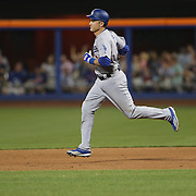 NEW YORK, NEW YORK - May 28:  Chase Utley #26 of the Los Angeles Dodgers runs the bases after hitting a grand slam home run in the top of the seventh inning during the Los Angeles Dodgers Vs New York Mets regular season MLB game at Citi Field on May 28, 2016 in New York City. (Photo by Tim Clayton/Corbis via Getty Images)