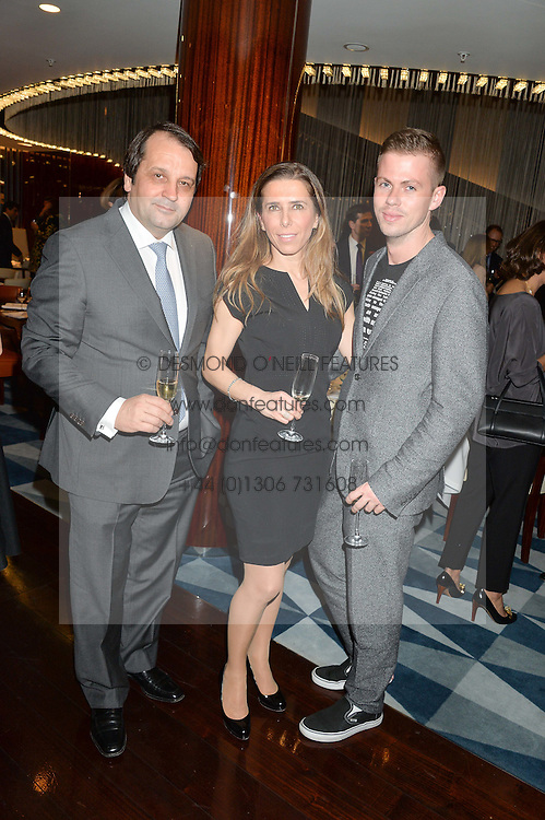 Left to right, SYLVAIN ERCOLI, SYLVIE ERCOLI and MICHAEL HENNEGAN at a dinner hosted by AA Gill & Nicola Formby in support of the Borne charity held at Rivea at the Bulgari Hotel, Knightsbridge, London on 3rd February 2015.