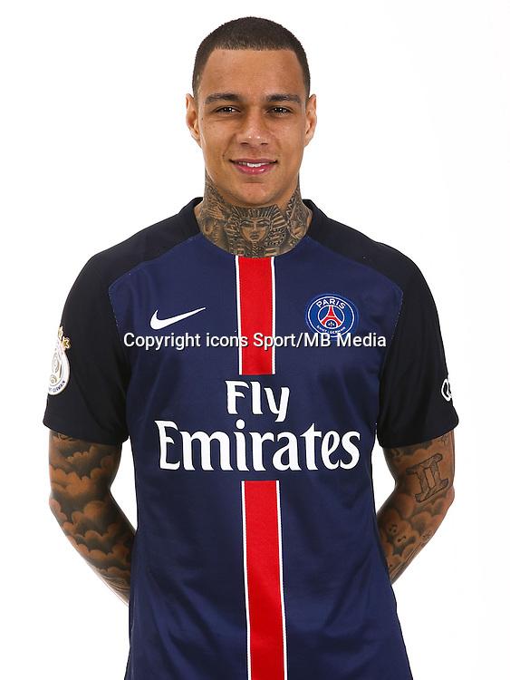 Gregory VAN DER WIEL - 19.08.2015 - Portrait Officiel Paris Saint Germain<br /> Photo : PSG / Icon Sport