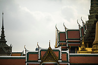 Wat Phra Kaew--the Temple of the Emerald Buddha--in Bangkok, Thailand.