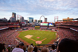 ST. LOUIS, USA - Monday, August 1, 2016: A general view of Busch Stadium as Liverpool take on AS Roma during a pre-season friendly game on day twelve of the club's USA Pre-season Tour at the Busch Stadium. (Pic by Concepcion Valadez/Propaganda)