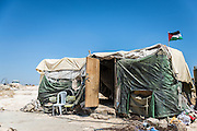 One of several residential tents in the West Bank village of Susiya under demolition order by Israel's Civil Administration.