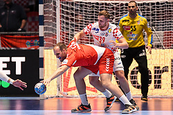 Zivan Pesic of Serbia during the handball match between National teams of Serbia and Croatia in Group A of Men's EHF EURO 2020 on January 13, 2020 in Stadhalle Graz, Graz, Austria