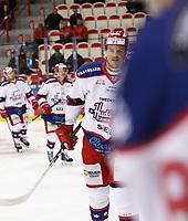2020-02-12 | Ljungby, Sweden: Huddinge IK (22) Niclas Lehmann after scoring 1-3 during the game between IF Troja / Ljungby and Huddinge IK at Ljungby Arena ( Photo by: Fredrik Sten | Swe Press Photo )<br /> <br /> Keywords: Ljungby, Icehockey, HockeyEttan, Ljungby Arena, IF Troja / Ljungby, Huddinge IK, fsth200212, ATG HockeyEttan, Allettan