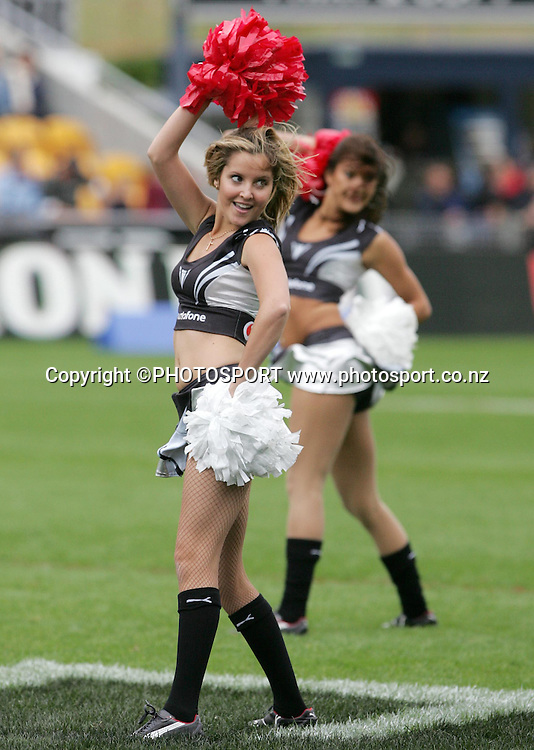 Vodafone Cheerleaders. NRL Rugby League, Vodafone Warriors v Bulldogs, Mt Smart Stadium, Auckland, New Zealand, Sunday 13 April 2008. Photo: Renee McKay/PHOTOSPORT