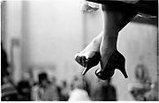 CindyAdams feet.New York © Copyright Photograph by Dafydd Jones<br /> 66 Stockwell Park Rd. London SW9 0DA<br /> Tel 0171 733 01081993. film93314